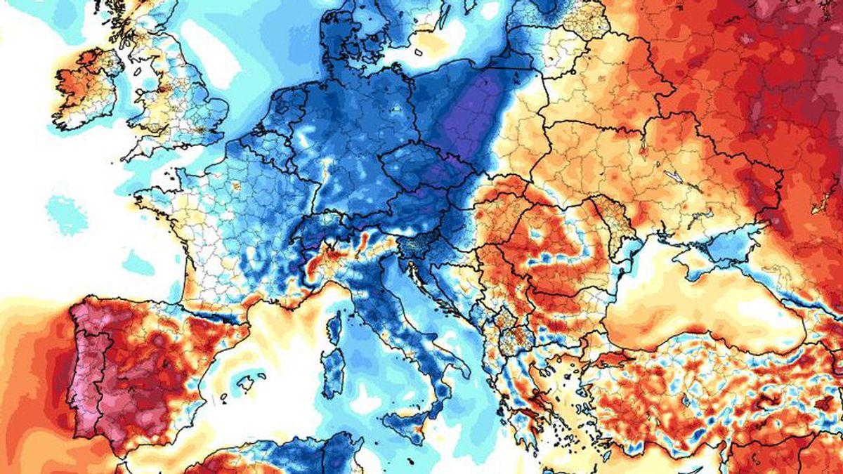 El efecto 'sándwich de calor y frío' de Europa: qué es y cómo nos afecta