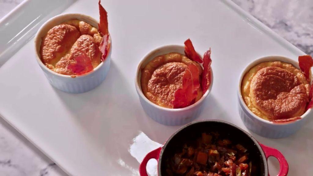 El soufflé salado con espuma de crema catal: El postre de Jorge al que no te podrás resistir