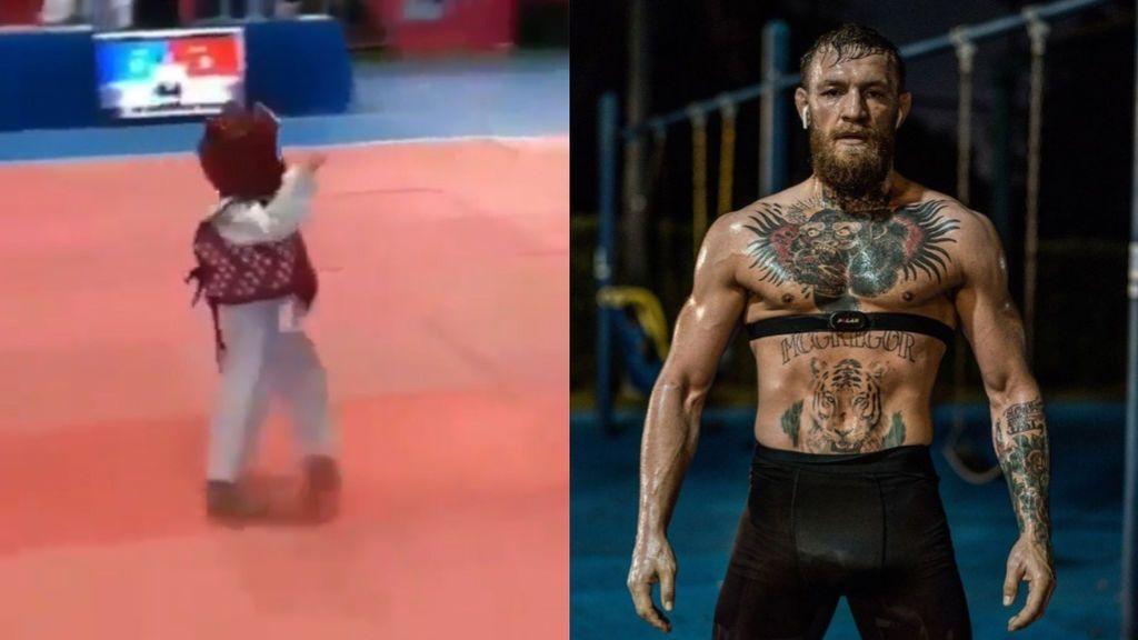 """Un niño imita el famoso baile de Conor McGregor y enamora al luchador: """"¡Debe valer millones!"""""""