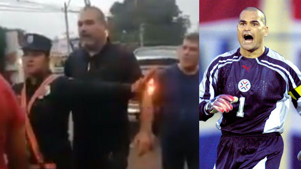 La gran bronca de Chilavert con un conductor de autobús: persecución en coche, insultos, puñetazos y una policía herida