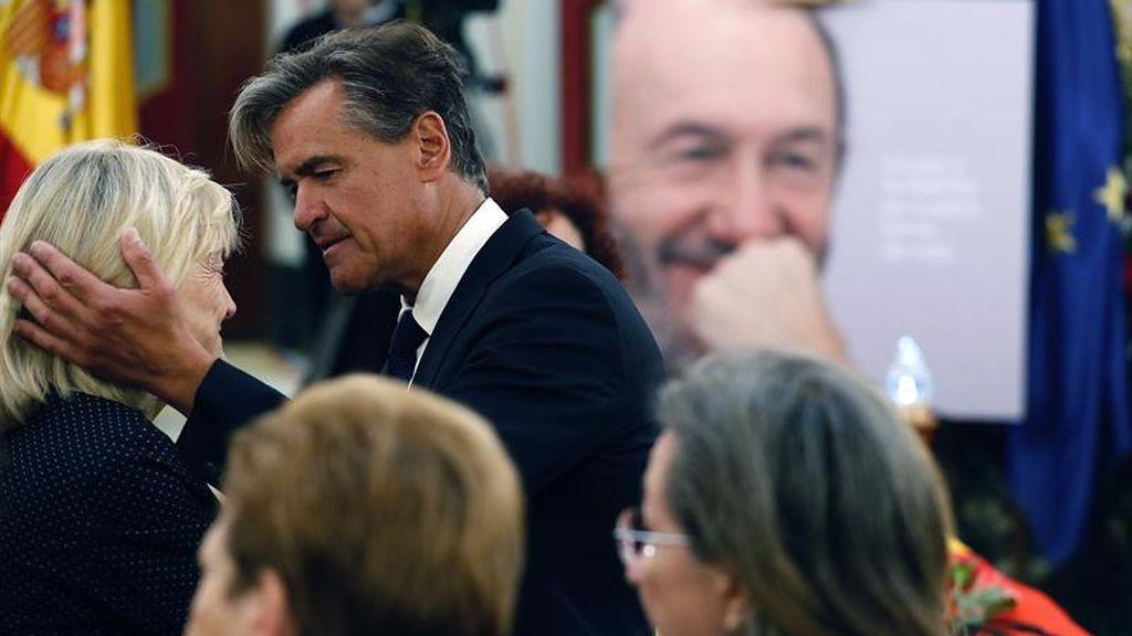 Último adiós a Rubalcaba en el Congreso de los Diputados