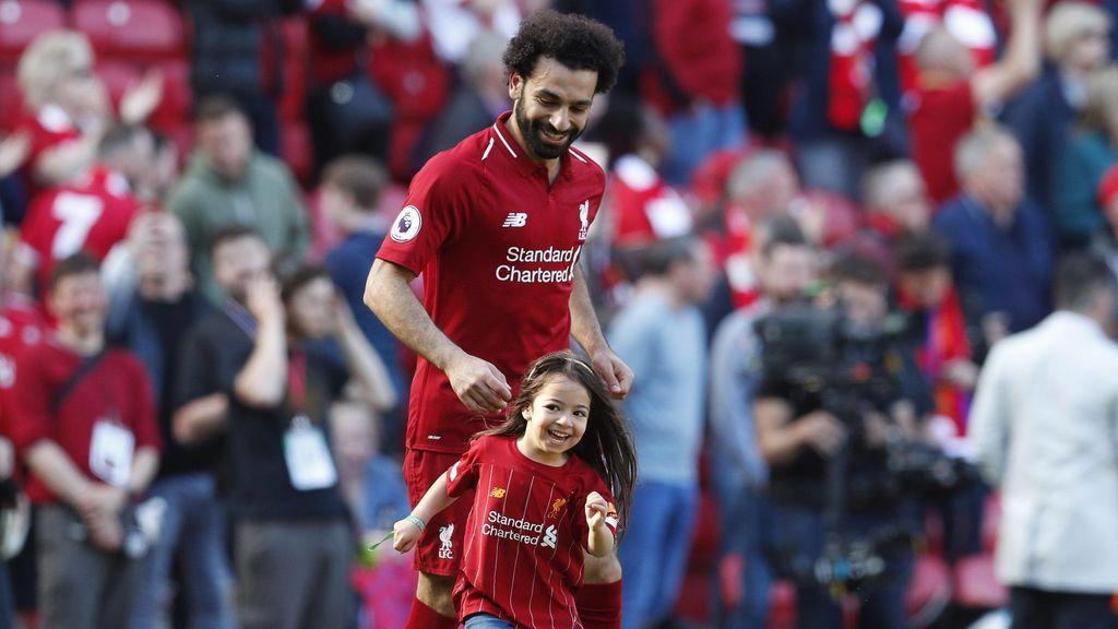 La ovación del Liverpool a la hija de Salah tras marcar un gol después de perder la Premier League