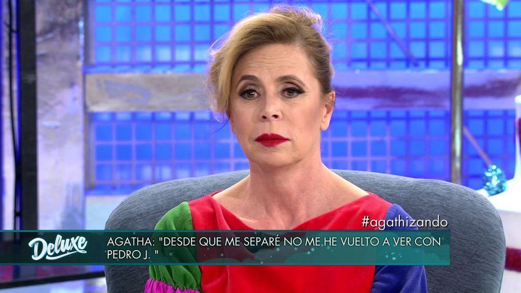 """Ágatha al ser preguntada por su expareja: """"Para mí, Pedro J. está muerto"""""""