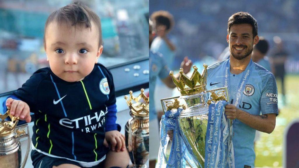 """David Silva le dedica el trofeo de la Premier League a su hijo pequeño que nació prematuro: """"La segunda de mi campeón"""""""