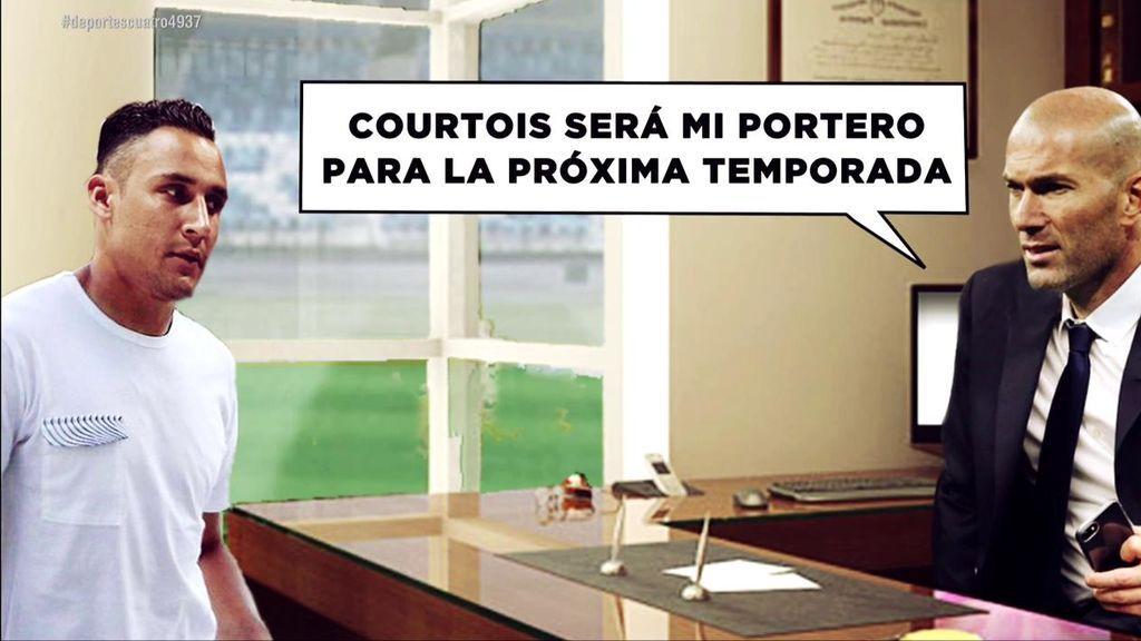 """""""Courtois será mi portero"""", los detalles de la conversación entre Keylor Navas y Zidane"""