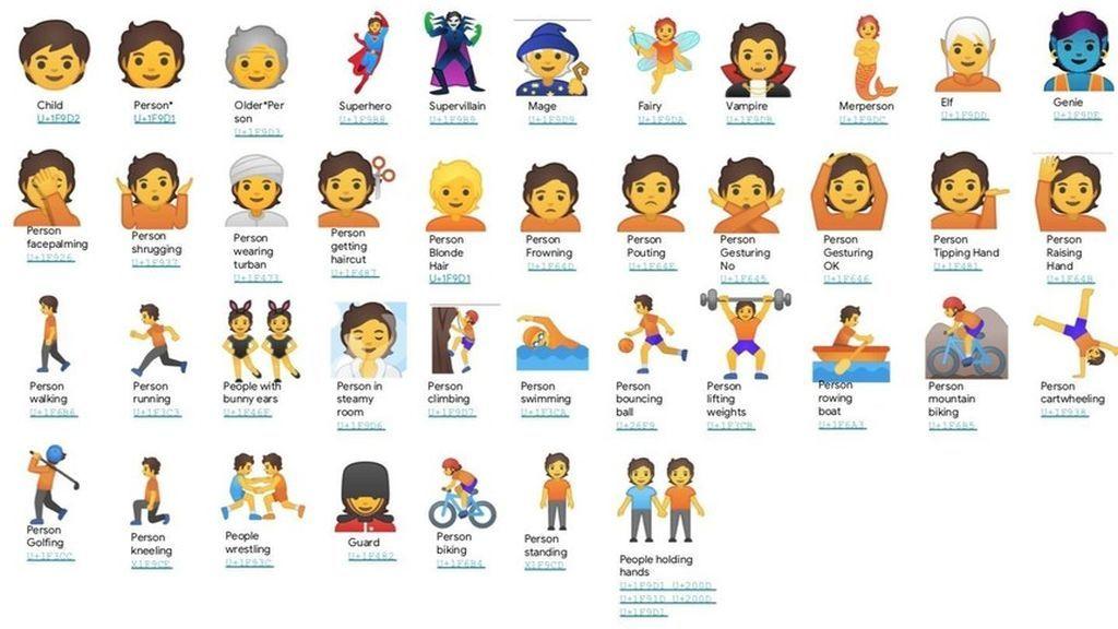 Emojis neutros que Google estrenará