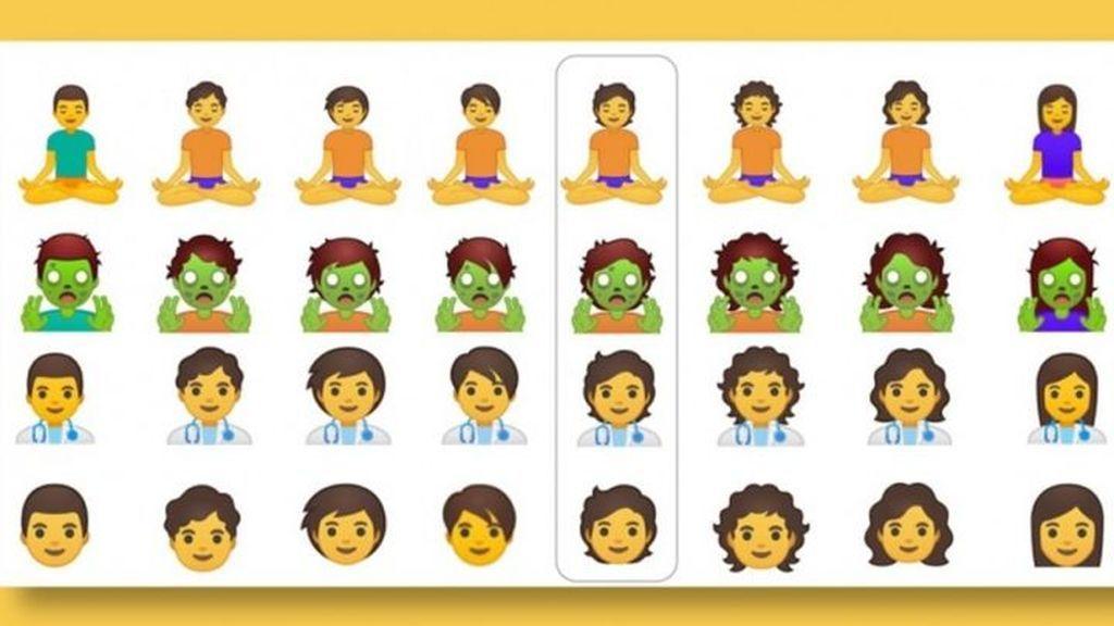 Listado de emojis neutros