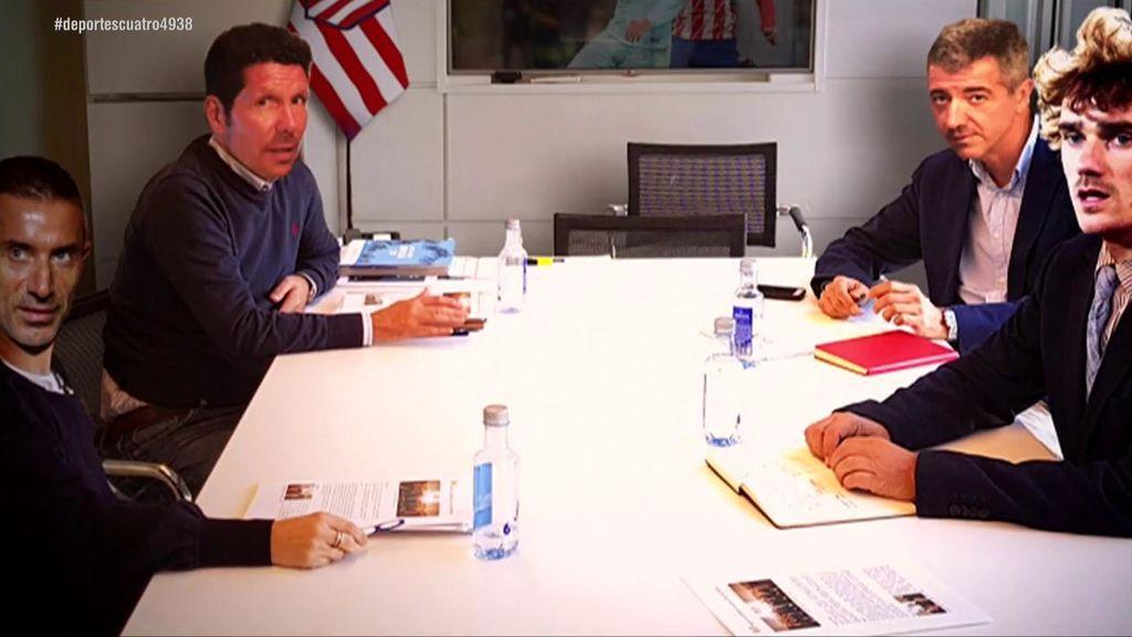 Cómo fue la reunión en la que Griezmann le dijo a Simeone, Gil Marín y Andrea Berta que dejaba el Atlético