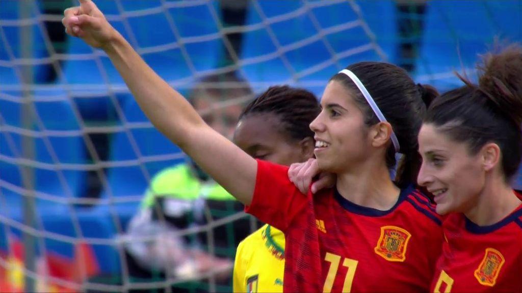 España gana de manera contundente ante Camerún en su primer amistoso antes del Mundial (4-0)