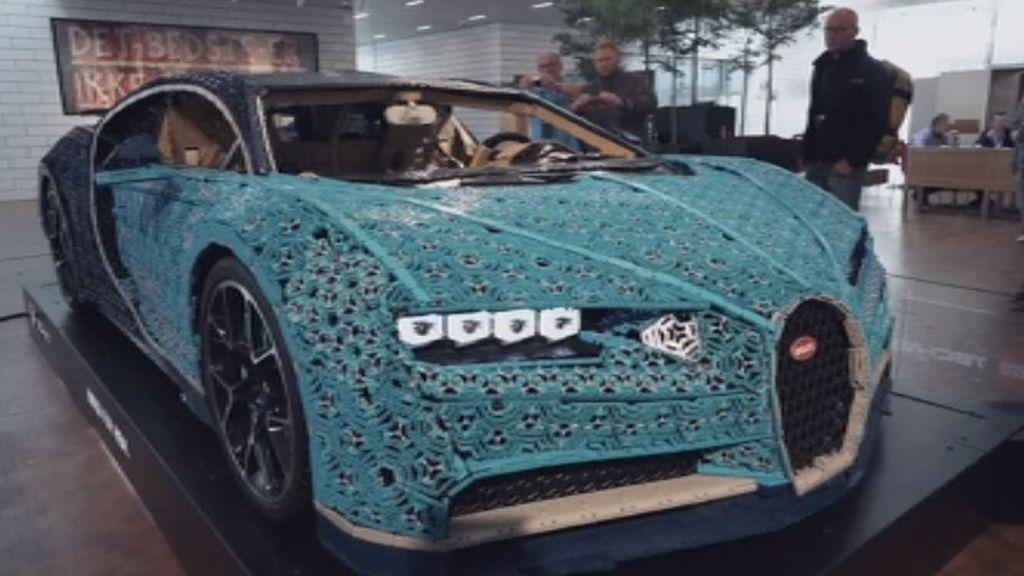 El primer Bugatti Chiron construido con piezas Lego