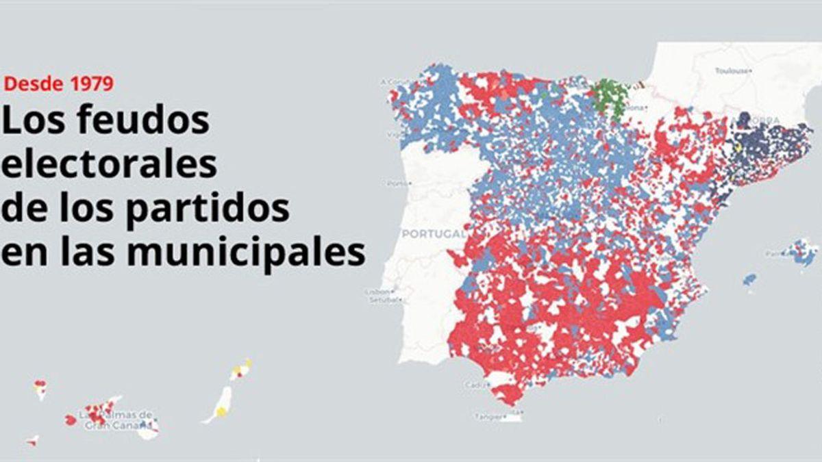 En seis de cada diez municipios ha ganado el mismo partido la mayoría de elecciones desde 1979