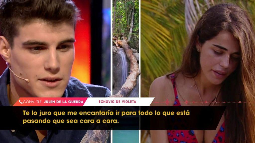 """Julen sobre Violeta: """"El único freno que había para su relación con Fabio era yo y me ha quitado del medio"""""""