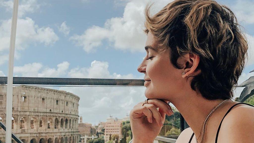 Laura Escanes, Risto y su hijo Julio posan en Roma para celebrar su embarazo - Divinity
