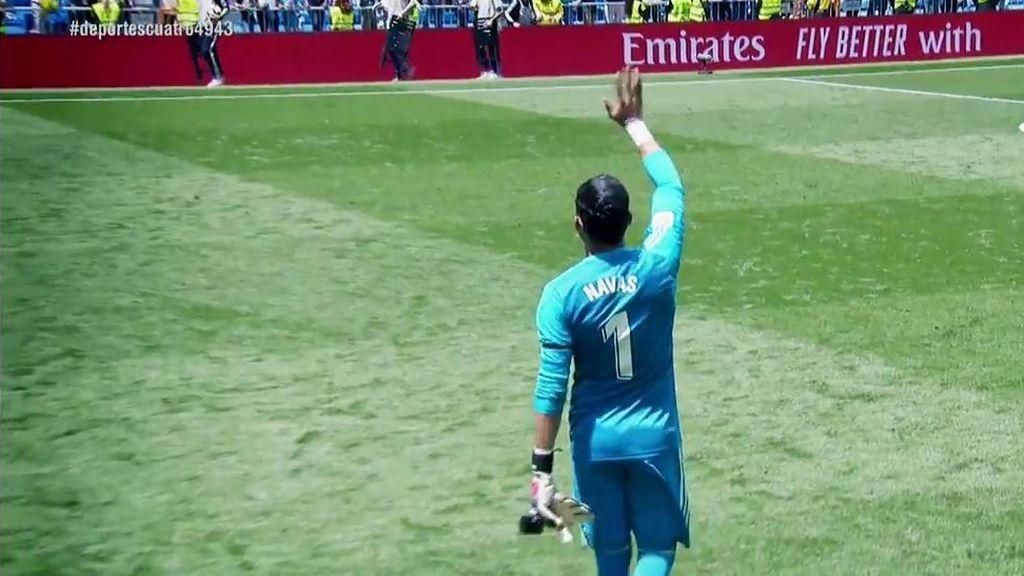 El Bernabéu, puesto en pie para despedir a Keylor Navas