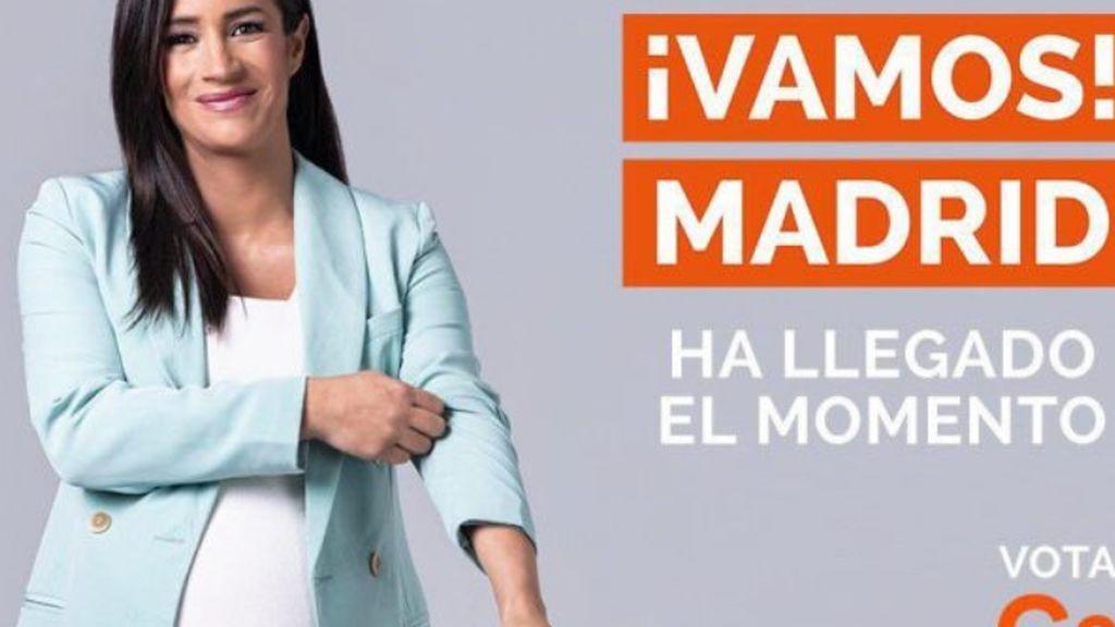 El cartel electoral de Begoña Villacís