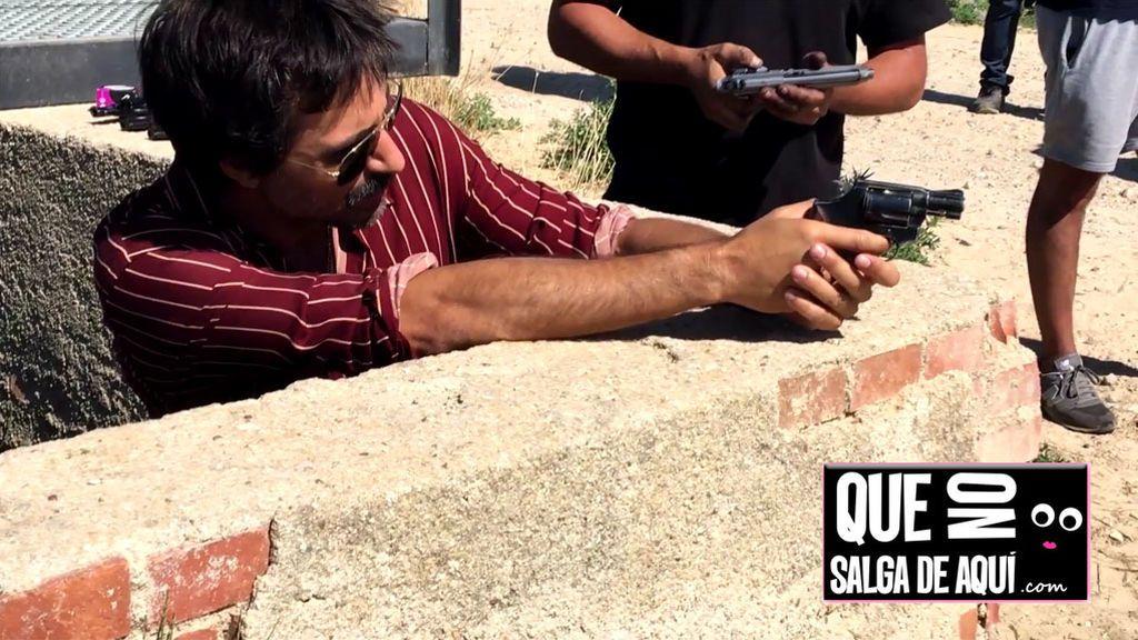 Así rodamos el espectacular tiroteo con Hugo Silva  en 'Brigada Costa del Sol'