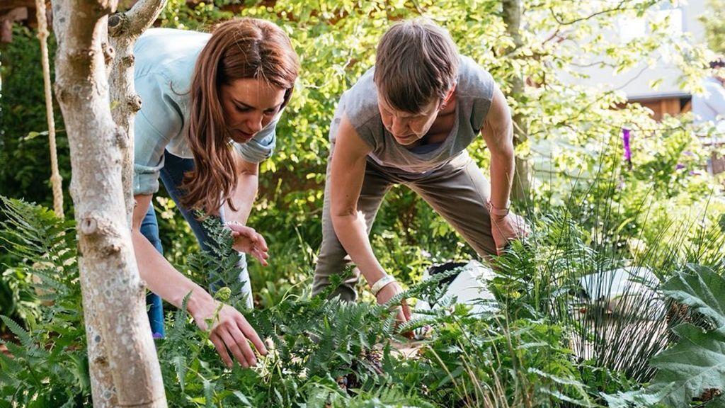 El jardín tiene como objetivo inspirar la interacción con el entorno natural a través de su esquema de plantas multisensoriales, verdes y azules.