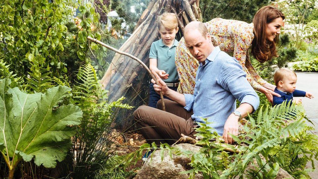 Los duques de Cambridge disfrutan de la naturaleza en familia por una buena causa