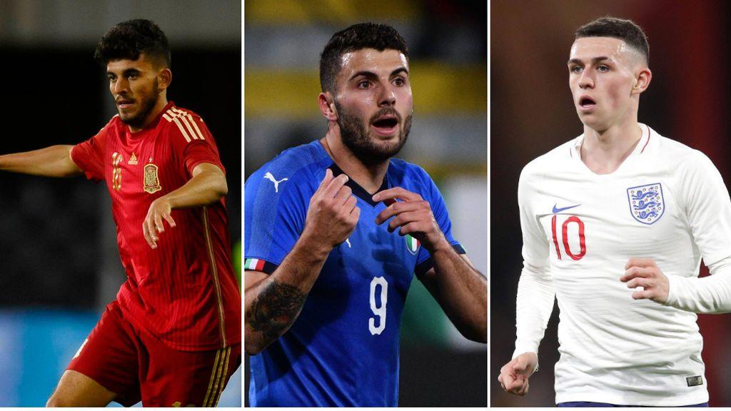 Todos los grupos y selecciones participantes en el Europeo Sub-21 de Italia y San Marino