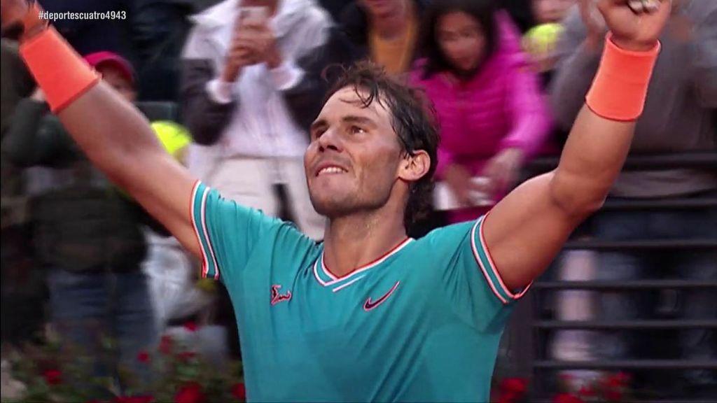 Los dos récords que ha superado Rafa Nadal ganando a Djokovic en Roma