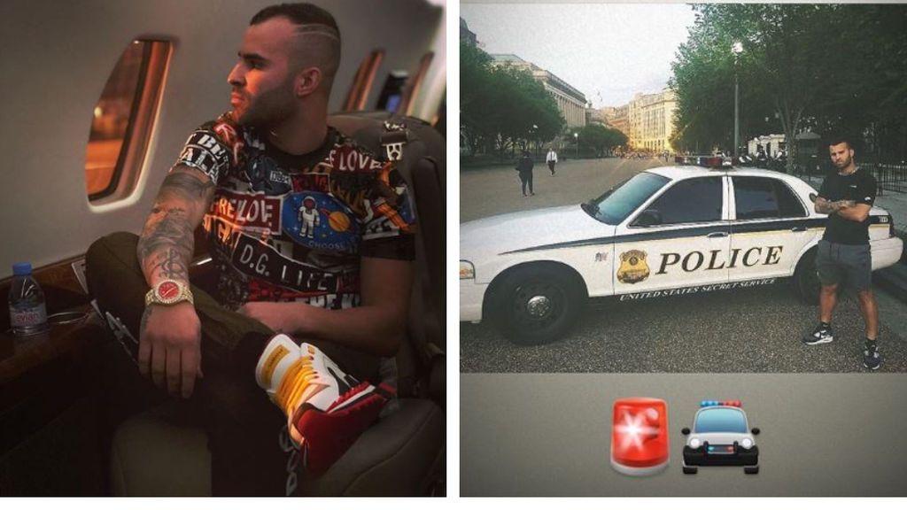 """""""¡De película"""", Jesé, de gira con el Betis en EE.UU, alucina al encontrase con la policía norteamericana"""