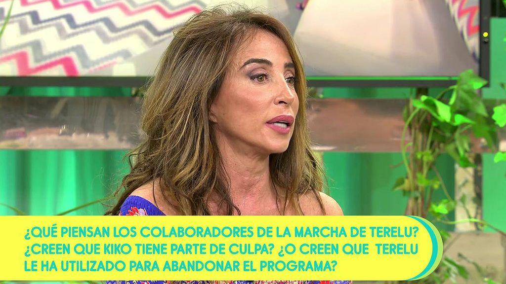 """DZU3Ozl1VpfvrLcEqAaWa7 María Patiño, sobre Terelu: """"Me dijo que tenía miedo de irse""""."""