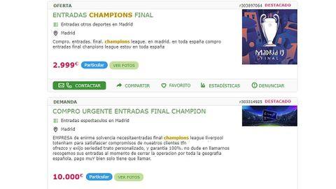 online retailer a2954 9fe97 Cómo está la reventa de entradas en la final de la Champions ...