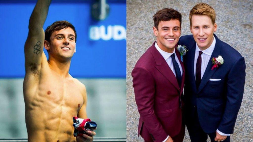 Un campeón olímpico denuncia que no le dejan celebrar la medalla en el podio con su marido e hijo por ser homosexual