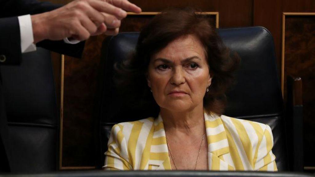 Carmen Calvo asegura que los presos independentistas electos serán suspendidos