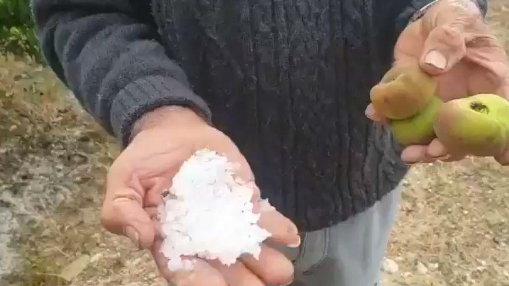Las tormentas de granizo en Murcia y Valencia en tres impactantes imágenes