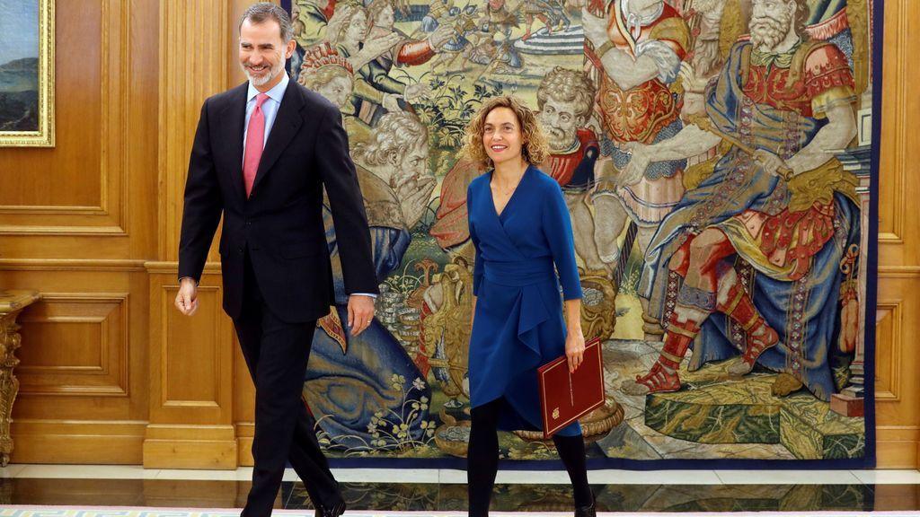 El Rey recibe a Meritxell Batet, la nueva presidenta del Congreso