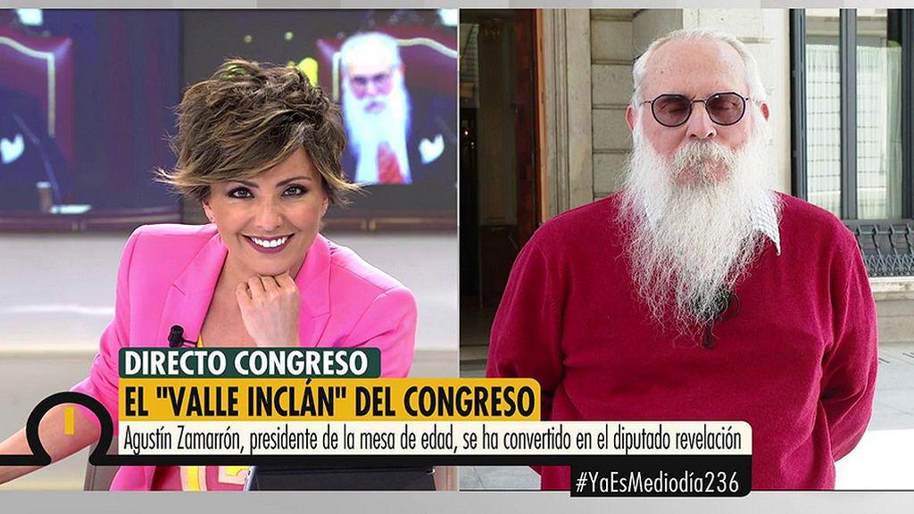 """Zamarrón, el """"Valle-Inclán' del Congreso: """"Lo importante es acatar la Constitución"""""""