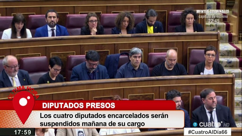 Última hora: Los diputados encarcelados serán suspendidos mañana de su cargo