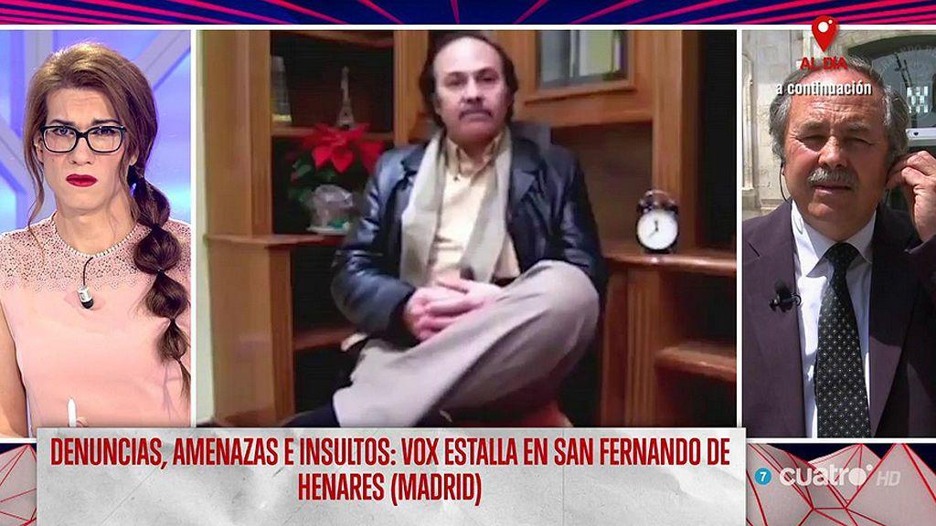 Elsa Ruíz, a Pedro Cuadrado ex número 2 de Vox en San Fernando de Henares
