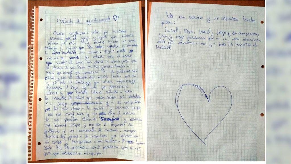 """Gracias por """"salvarme a mí y a todos los menores"""": emotiva carta a la Policía de un menor con Asperger, víctima de abusos sexuales"""
