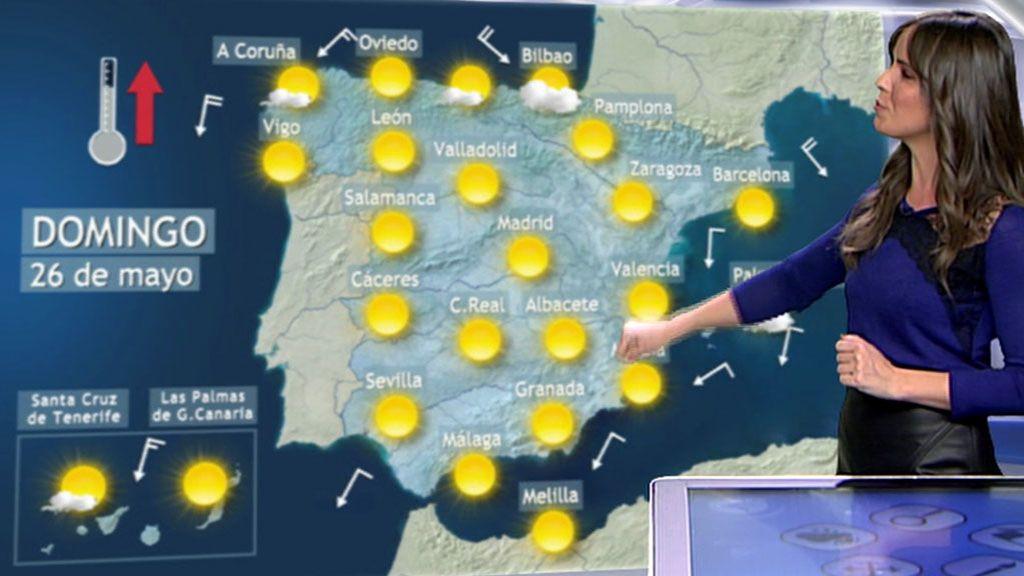 Lluvias en algunos puntos del país y temperaturas suaves generalizadas