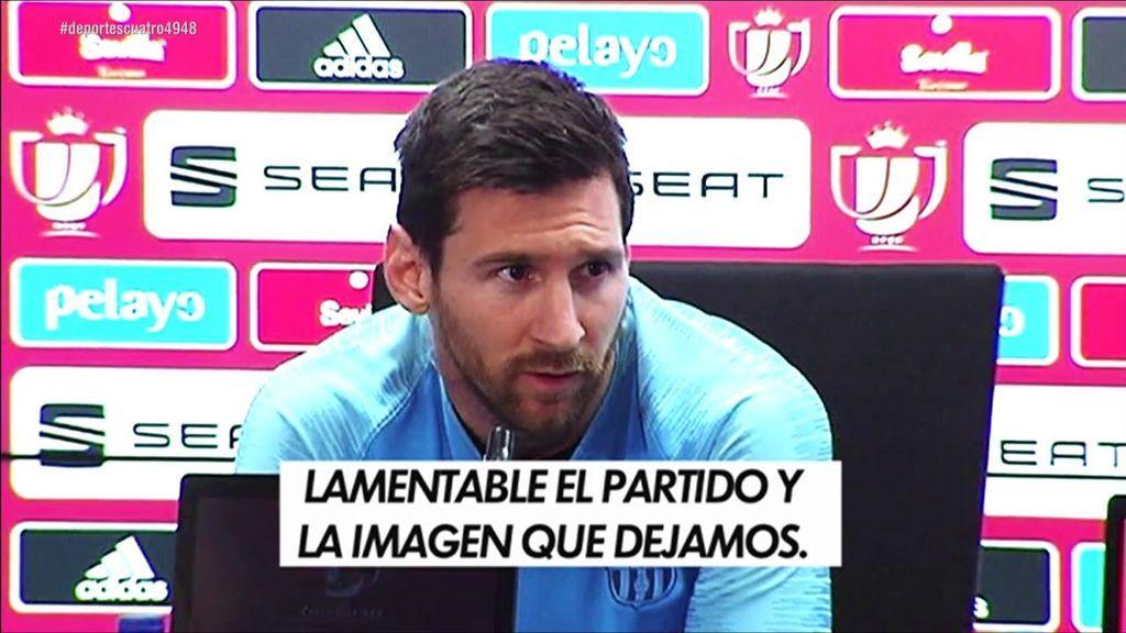 """Las disculpas de Messi tras la derrota ante el Liverpool en la Champions: """"Fue lamentable"""""""