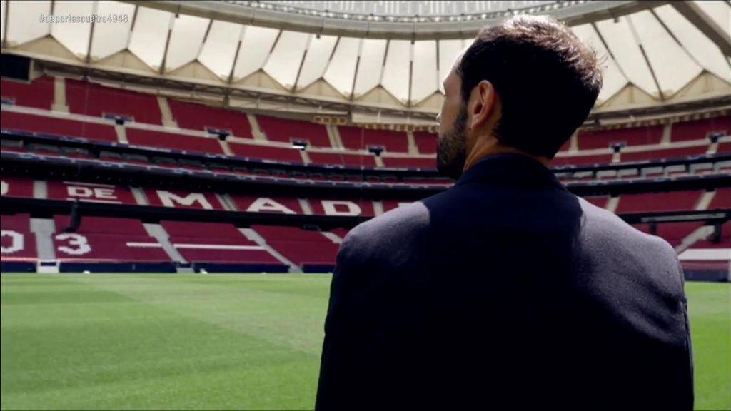 La emotiva sorpresa de los empleados del Atlético de Madrid en la despedida de Juanfran