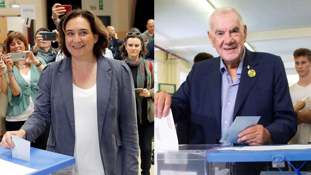 Colau y Maragall empatarían en concejales en Barcelona según los primeros sondeos
