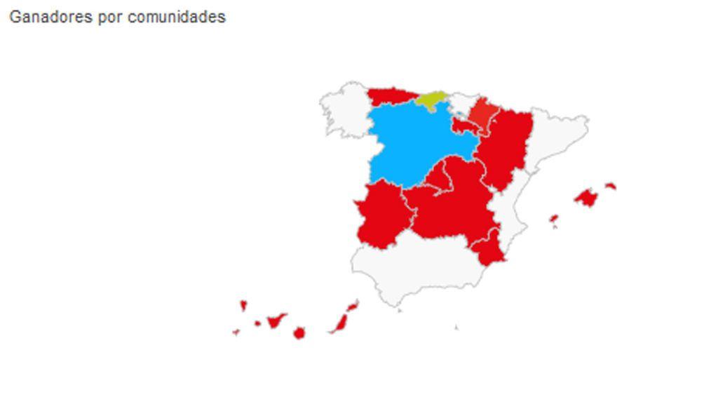 Resultados de las elecciones autonómicas 26M