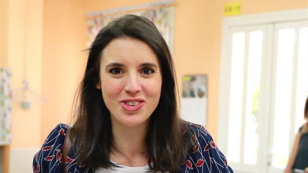 Irene Montero ejerce el derecho al voto