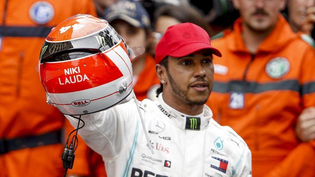 El homenaje de Hamilton al fallecido Niki Lauda tras su victoria en el Gran Premio de Mónaco