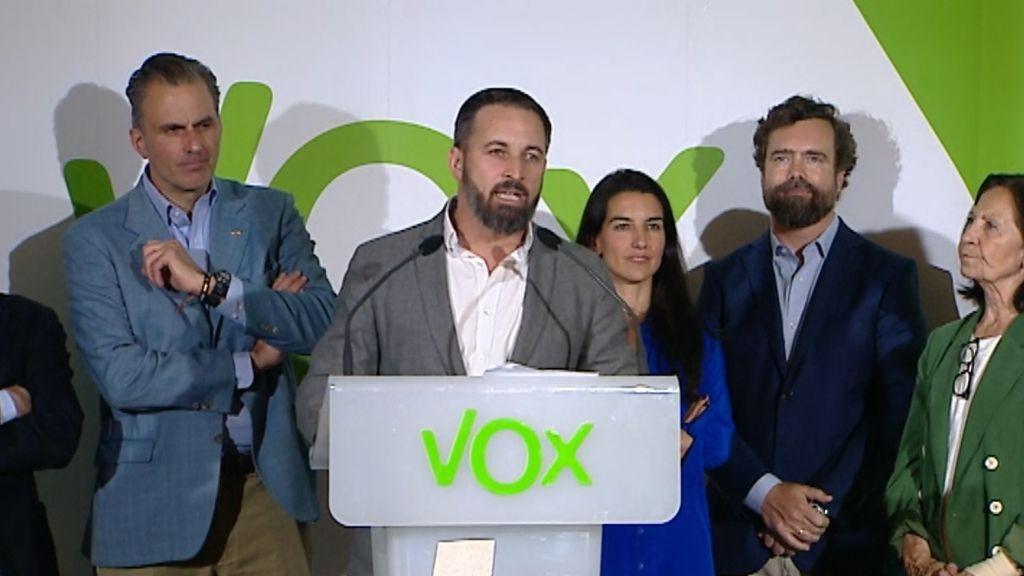 """Santiago Abascal: """"Que no lo dude nadie, VOX va a hacer valer sus votos"""""""