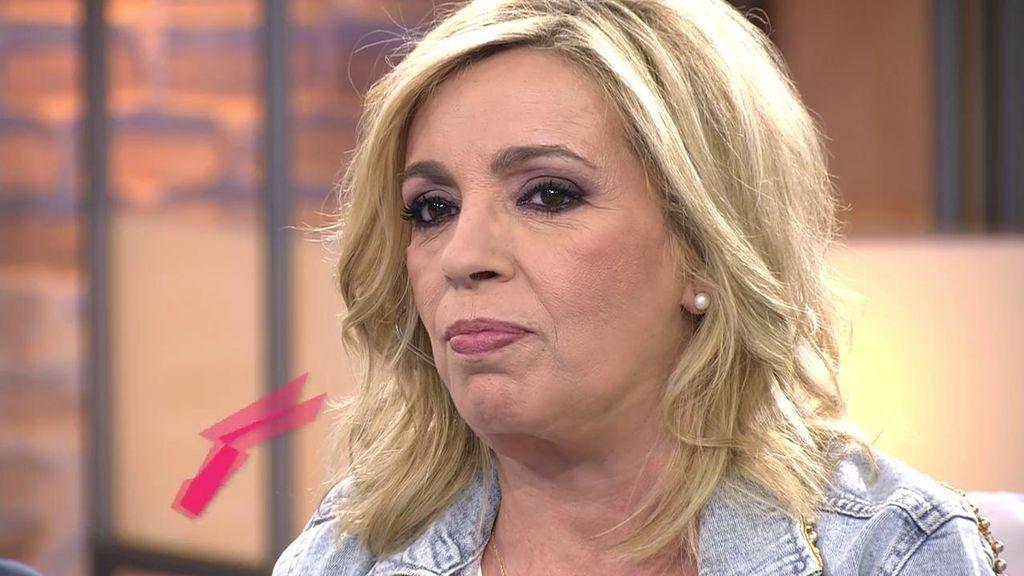 """Carmen Borrego responde a Jorge Javier Vázquez tras sus duras palabras en el 'Deluxe': """"Se me saltaron las lágrimas"""""""
