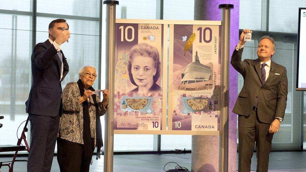 El billete de 10 dólares canadienses ha sido elegido como el mejor del mundo