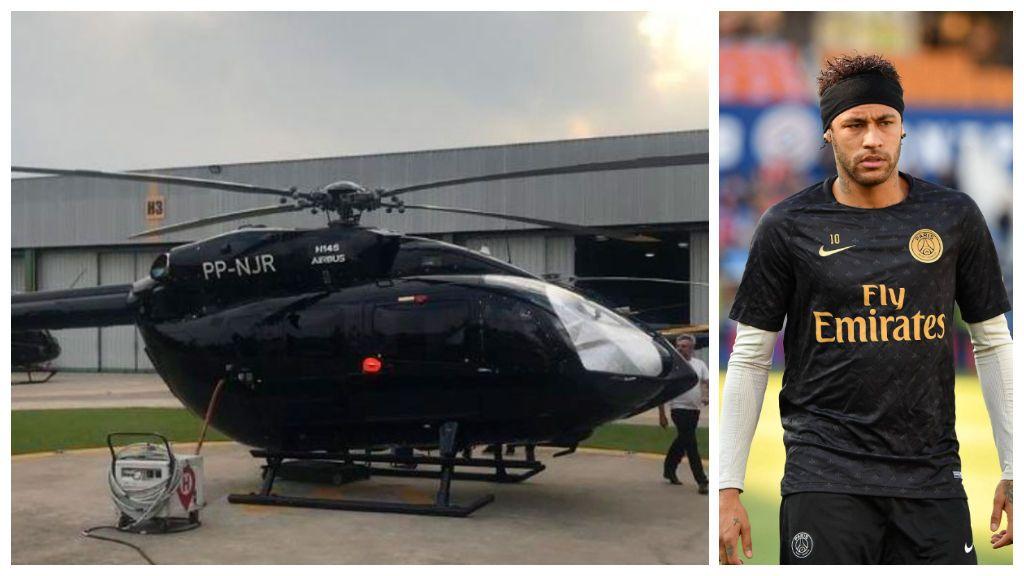 El último capricho de Neymar: Un helicóptero con el logo de Batman valorado en 13 millones de euros