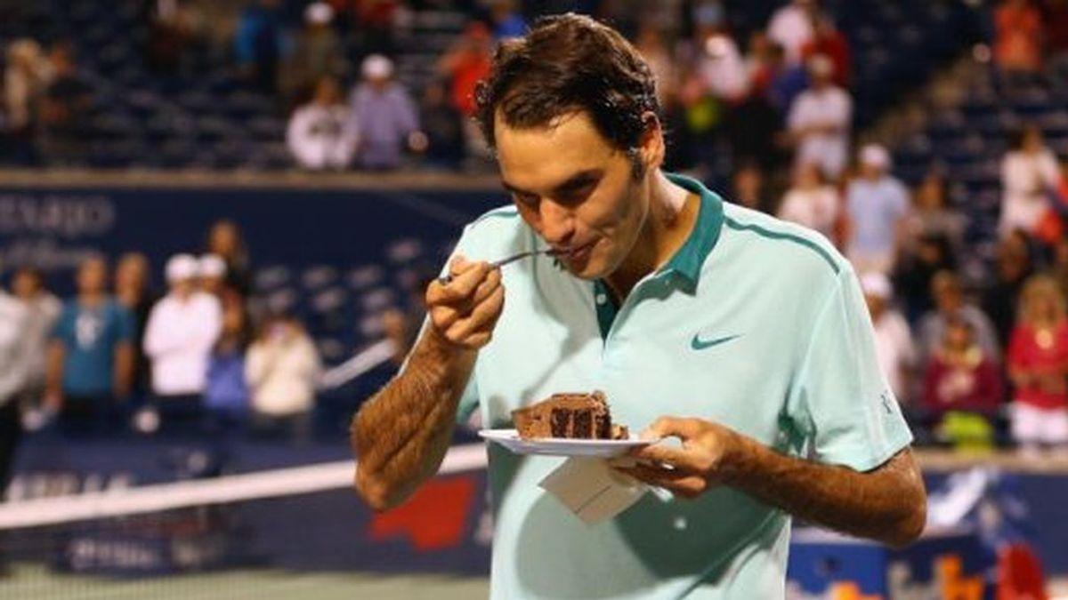 Chocolate, golosinas y helado: la 'estricta' dieta de Roger Federer
