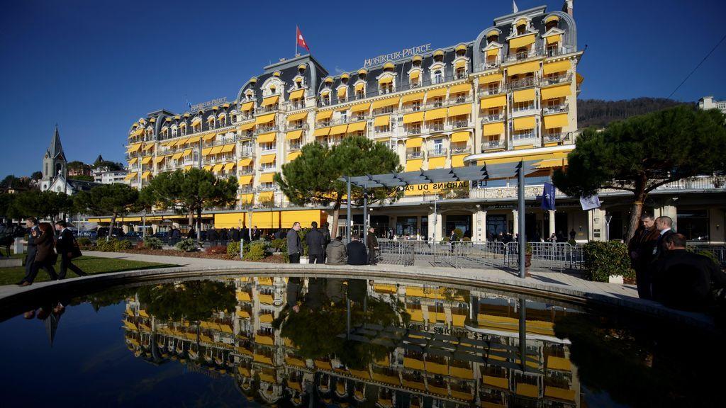 Fachada del hotel Montreux-Palace