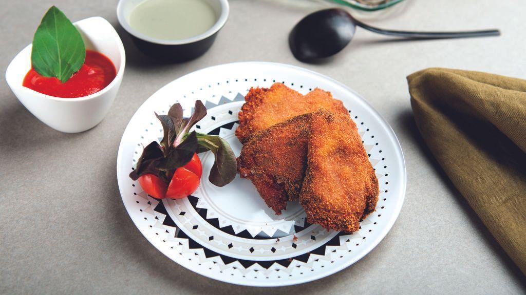 San Jacobos de Pimientos del Piquillo de Lodosa y salsa de queso azul