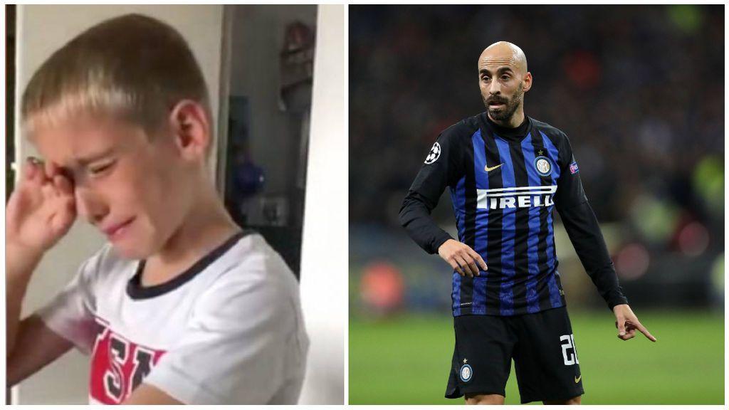 El hijo de Borja Valero rompe a llorar